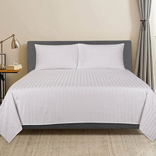 White Stripe Bed High quality hotels bed sheets